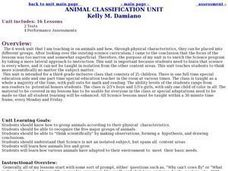 Animal Classification Unit Lesson Plan