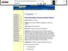 Lesson 6 How Does News Influence Stock Prices? Lesson Plan