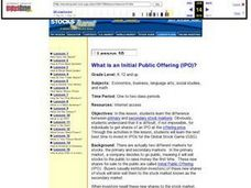 Lesson 10 What is an Initial Public Offering (IPO)? Lesson Plan