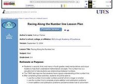 Racing Along the Number Line Lesson Plan