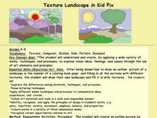 Texture Landscape in Kid Pix Lesson Plan