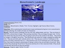 Monochromatic Landscape Lesson Plan