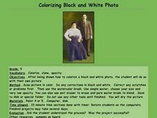 Colorizing Black and White Photo Lesson Plan