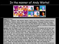 In the manner of Andy Warhol Lesson Plan