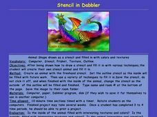 Stencil in Dabbler Lesson Plan
