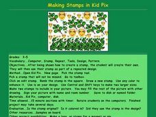 Making Stamps in Kid Pix Lesson Plan