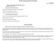 Word Processing and Internet Planet Report Lesson Plan