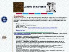 Caffeine and Nicotine Lesson Plan