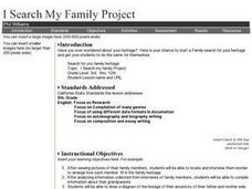 I Search My Family Project Activities & Project