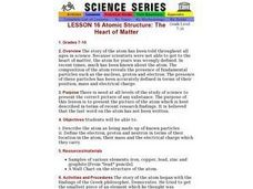 Atomic Structure: The Heart of Matter Lesson Plan