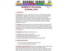 Electricity:  A Friend, a Foe Lesson Plan