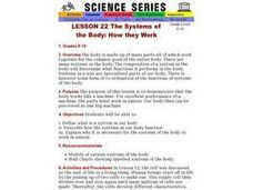 The Systems of the Body: How they Work Lesson Plan