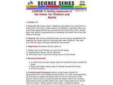 Safety measures in the Home: for Children and Adults Lesson Plan
