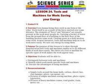 Tools and Machines for Work: Saving your Energy Lesson Plan
