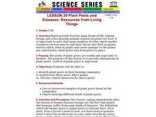 Plant Pests and Diseases: Resources from Living Things Lesson Plan