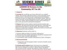 Science in the Community: ICT for All Lesson Plan
