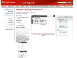 Graphing Linear Equations Lesson Plan