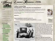 Immigration, Where Do We Go From Here? Lesson Plan