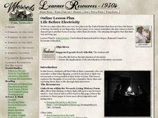 Life Before Electricity Lesson Plan