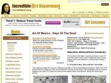 Jose Posada - Calaveras Drawings - Line Lesson Plan