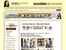 Life size figures - Moveable Murals Lesson Plan