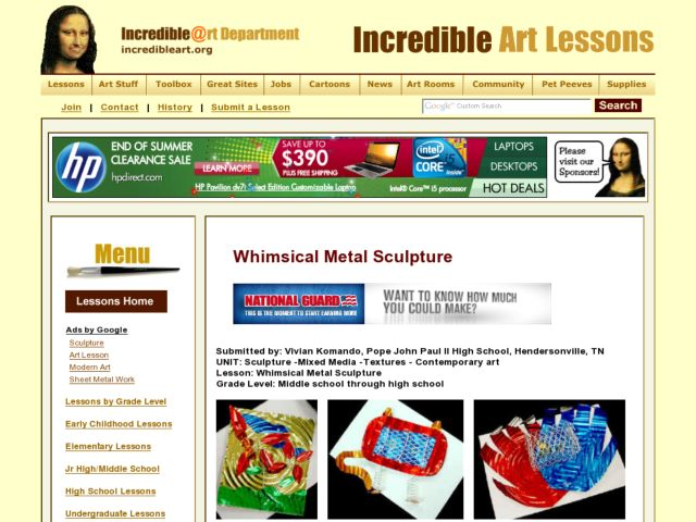 Whimsical Metal Sculpture Lesson Plan