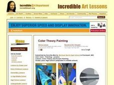 Color Theory and Acrylic Painting Lesson Plan