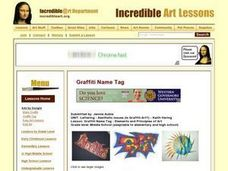 Graffiti Name Tag Lesson Plan