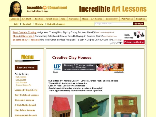 Creative Clay Houses Lesson Plan