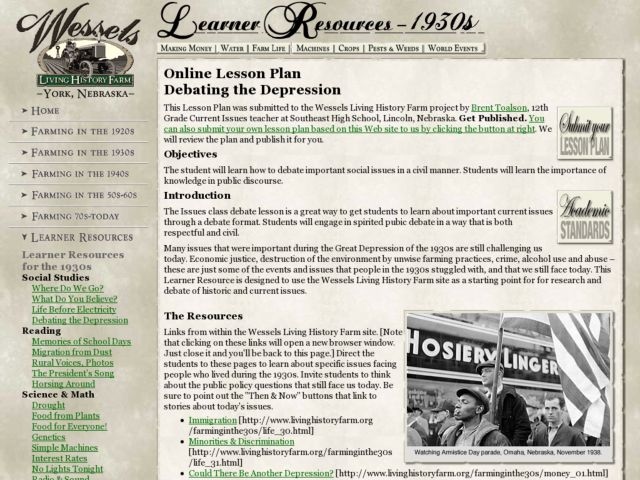 Debating the Depression Lesson Plan