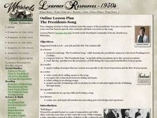 The Presidents Song Lesson Plan