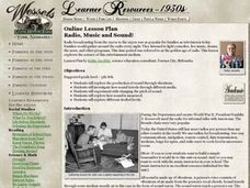 Radio, Music and Sound! Lesson Plan