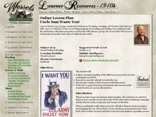 Uncle Sam Wants You! Lesson Plan