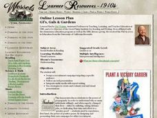 GI's, Gals & Gardens Lesson Plan