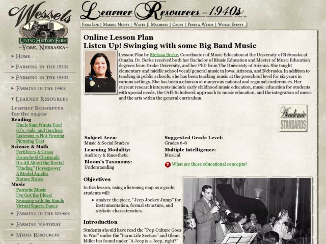 Listen Up! Swinging with some Big Band Music Lesson Plan