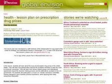 Health - Lesson Plan on Prescription Drug Prices Lesson Plan