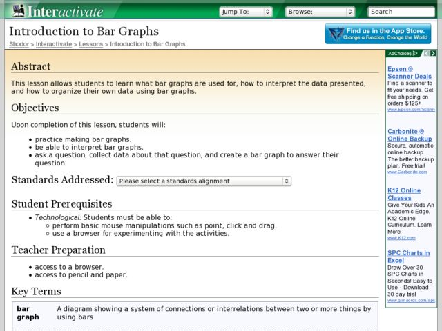Introduction to Bar Graphs Lesson Plan Lesson Plan