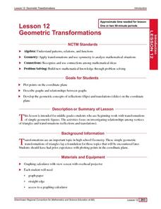 Geometric Transformations Lesson Plan