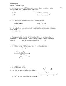 Angle Measures Worksheet