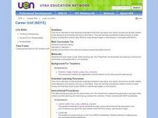 Career Unit (NEFE) Lesson Plan