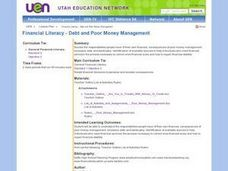Financial Literacy - Debt and Poor Money Management Lesson Plan