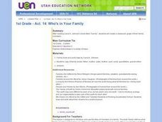 1st Grade - Act. 14: Who's in Your Family Lesson Plan