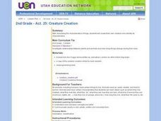 2nd Grade - Act. 25: Creature Creation Lesson Plan