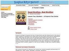 Good Brother, Bad Brother: The Story of Edwin Booth and John Wilkes Booth Lesson Plan