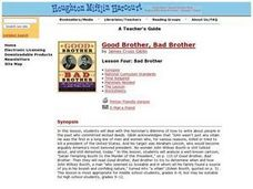 Bad Brother Lesson Plan