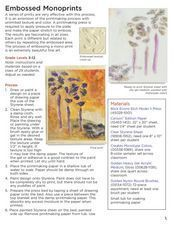 Embossed Prints Lesson Plan