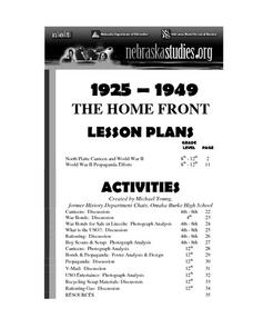 North Platte Canteen and World War II Lesson Plan