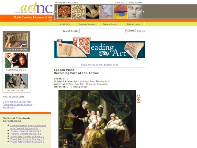 Becoming Part of the Action Lesson Plan
