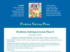 Problem Solving/ Holistic Lesson Plan: Paper Structure Lesson Plan