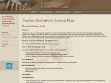 The Court Defines Itself Lesson Plan